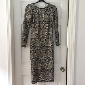Dress the Population Sequined Dress Sz M